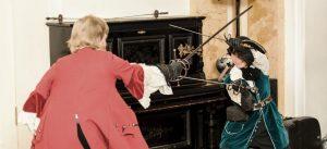 историческое сценическое фехтование на шпаге с дагой